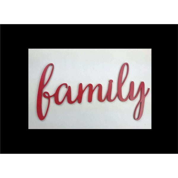 Family Word Wood cutout for Gallery Wall