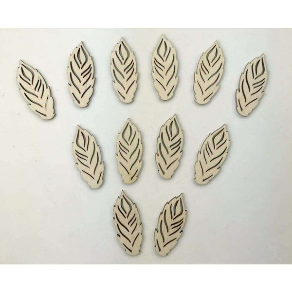 Feather Wood Cutouts