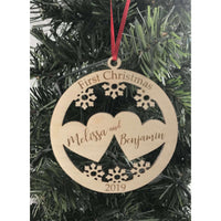 First Christmas Couple Married Ornament
