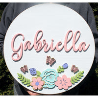 Floral Nursery Name sign