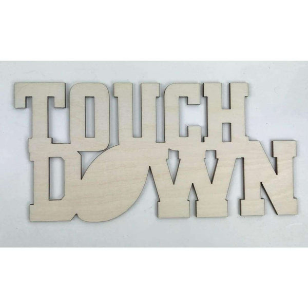 Football Touch Down wooden cutouts