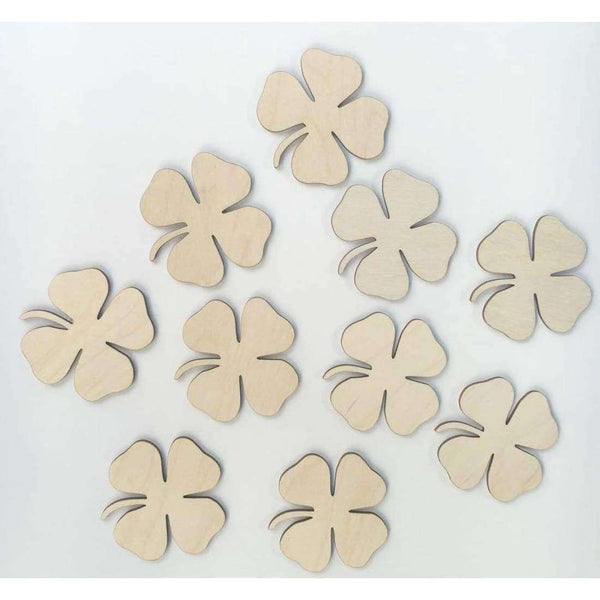 Four Leaf Clover Wooden Shapes