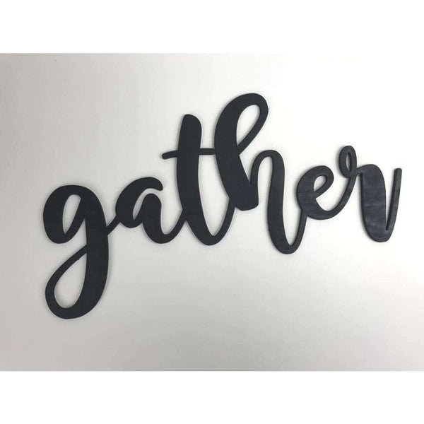 Gather Wood Cutout for Gallery Wall