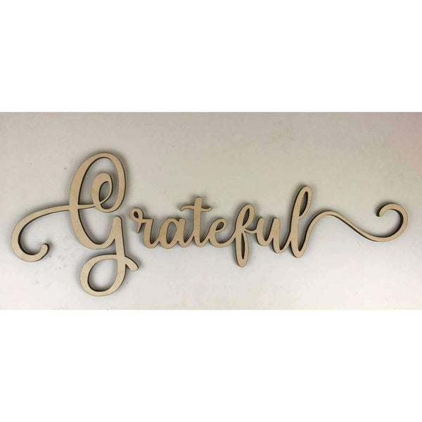 Grateful Wooden Cutout