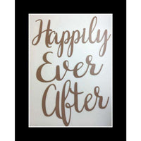"""Happily Ever After"" Wood Wedding Back drop Decoration"