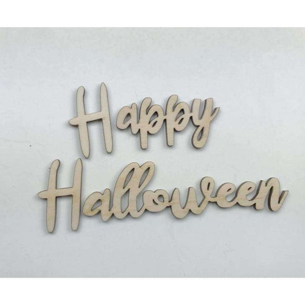 Happy Halloween Wood Cutout