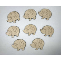 Hegehog Wood engraved Cutouts
