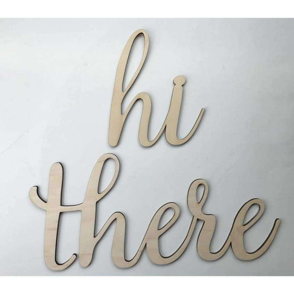 hi there wood cutout