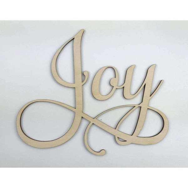 Joy Wood Wall Cutout