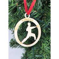 Karate Engraved Ornament