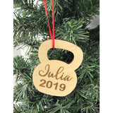 Personalized Engraved Kettle Bell Workout Gym ornament