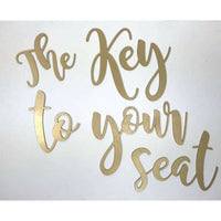 Key to your seat wedding cutout