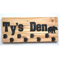 Large Bear Nursery Sign