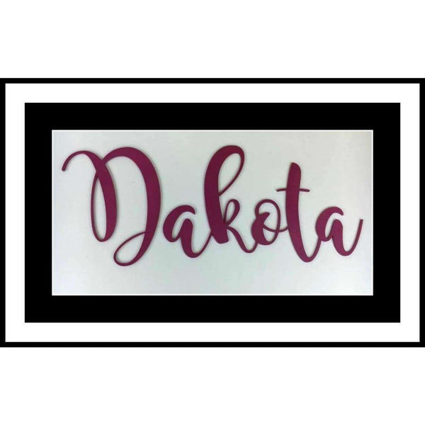 Large Name Painted Wooden Word cutout