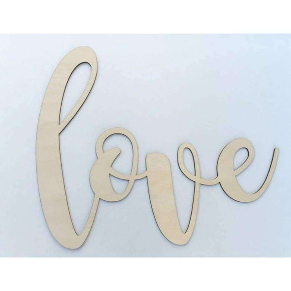 Love Wooden Cutout