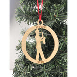Marching Band Saxophone Engraved Ornament