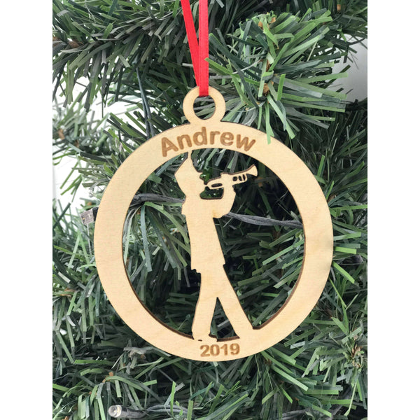 Marching Band Trumpet Engraved Ornament