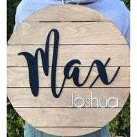 Circle Nursery Name Sign for Boys and Girls
