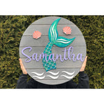 Mermaid Nursery Sign with Glitter Extra Large size!