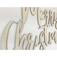 Merry Christmas Wood cutout