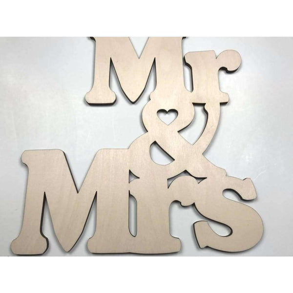 Mr & Mrs wood Cutout for a Gallery Wall