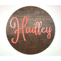Nursery Circle Sign Pallet Style