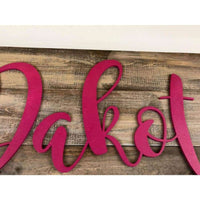 Personalized Wooden Nursery Name sign Free Shipping!