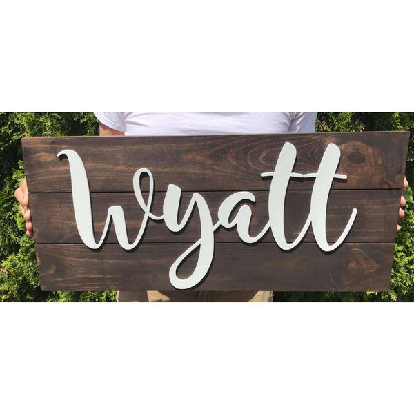 wood name nursery sign