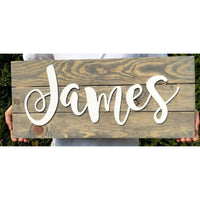nursery name sign boy
