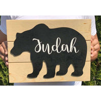 Personalized Nursery Bear Name sign