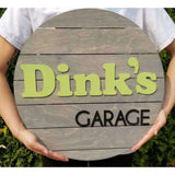Personalized sign for garage