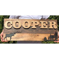 Personalized Woodland Nursery Sign