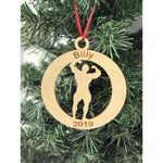 Personalized Weightlifting Ornament with engraving