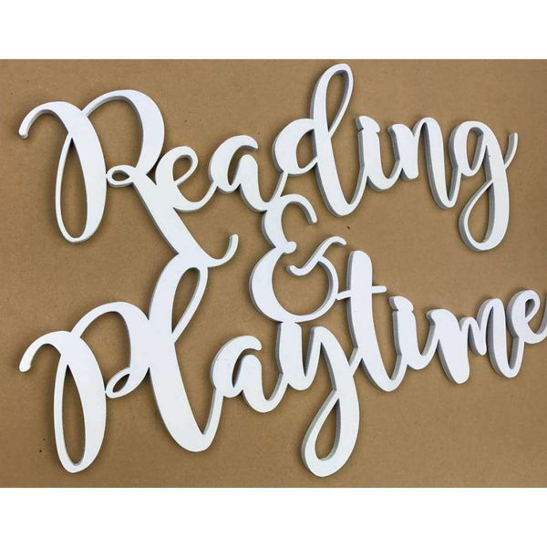 Reading and Playtime Word Cutout