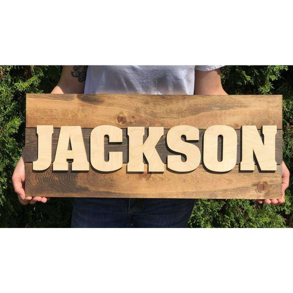 Rustic Nursery Sign with name