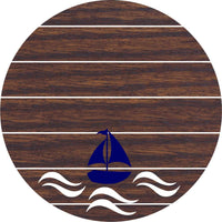 Nautical Nursery Sailing sign with your choice of fonts and colors