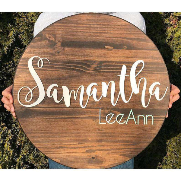Large Circle Nursery Name sign