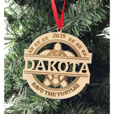 Custom engraved Save the Turtles sk sk sk Ornament ornament with name and year