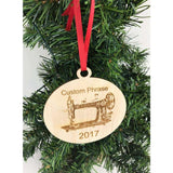 Sewing Quilter Engraved Christmas Ornament
