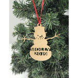 Snowman Name Ornament Personalized with year
