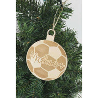 Soccer Engraved Ornament