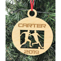 Soccer Player Engraved Ornament