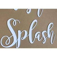Splish Splash Wooden Cutouts