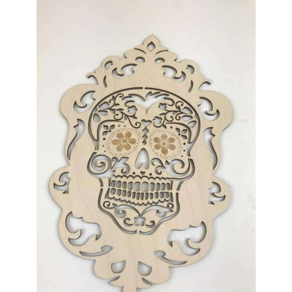 Sugar Skull Wooden Cutout