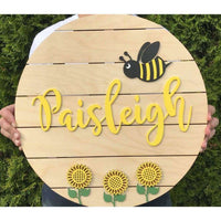 Sunflower Nursery Name sign