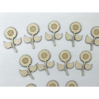 Sunflower Wood cutouts