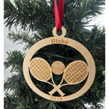 Tennis Player Personalized Christmas Ornament