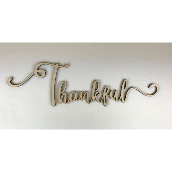 Thankful Wooden Cutout
