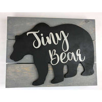 Tiny Bear Nursery Sign