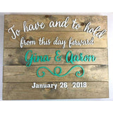 To have and To Hold Wedding Announcement Sign
